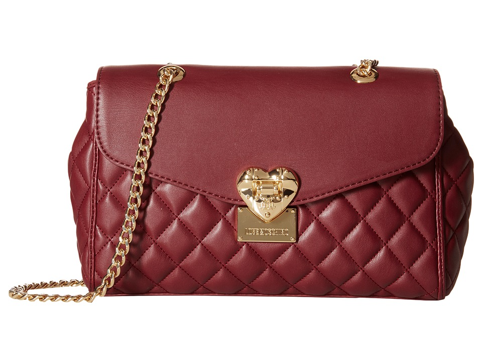 LOVE Moschino - Quilted Crossbody (Bordeaux) Cross Body Handbags