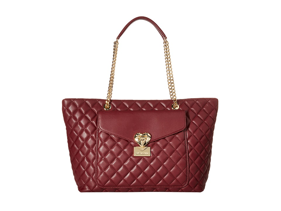 LOVE Moschino - Quilted Tote (Bordeaux) Tote Handbags