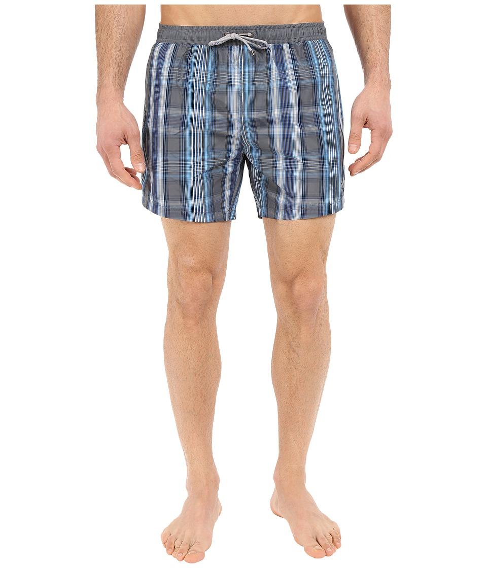 BOSS Hugo Boss Catshark 10155893 07 Grey Blue Mens Swimwear