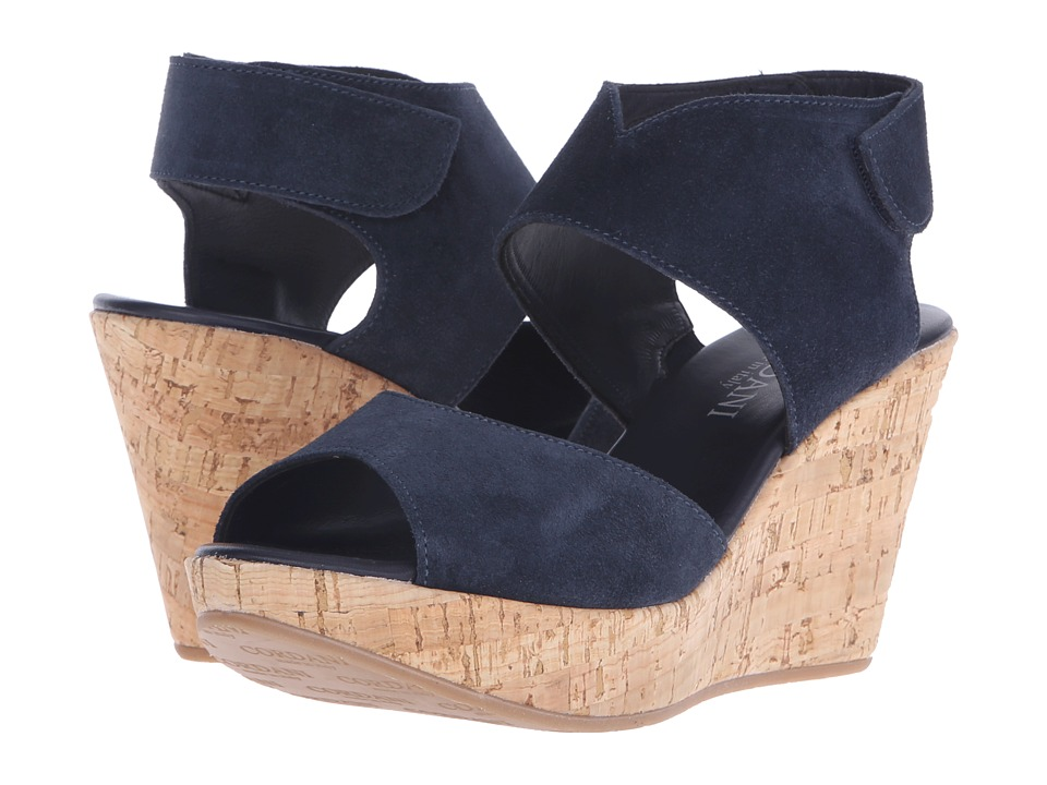 Cordani Rhonda Navy Suede/Cork Womens Wedge Shoes