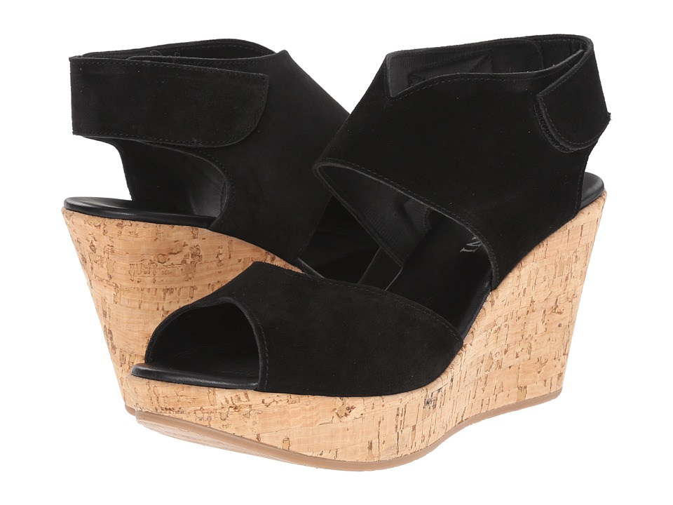 Cordani Rhonda Black Suede/Cork Womens Wedge Shoes