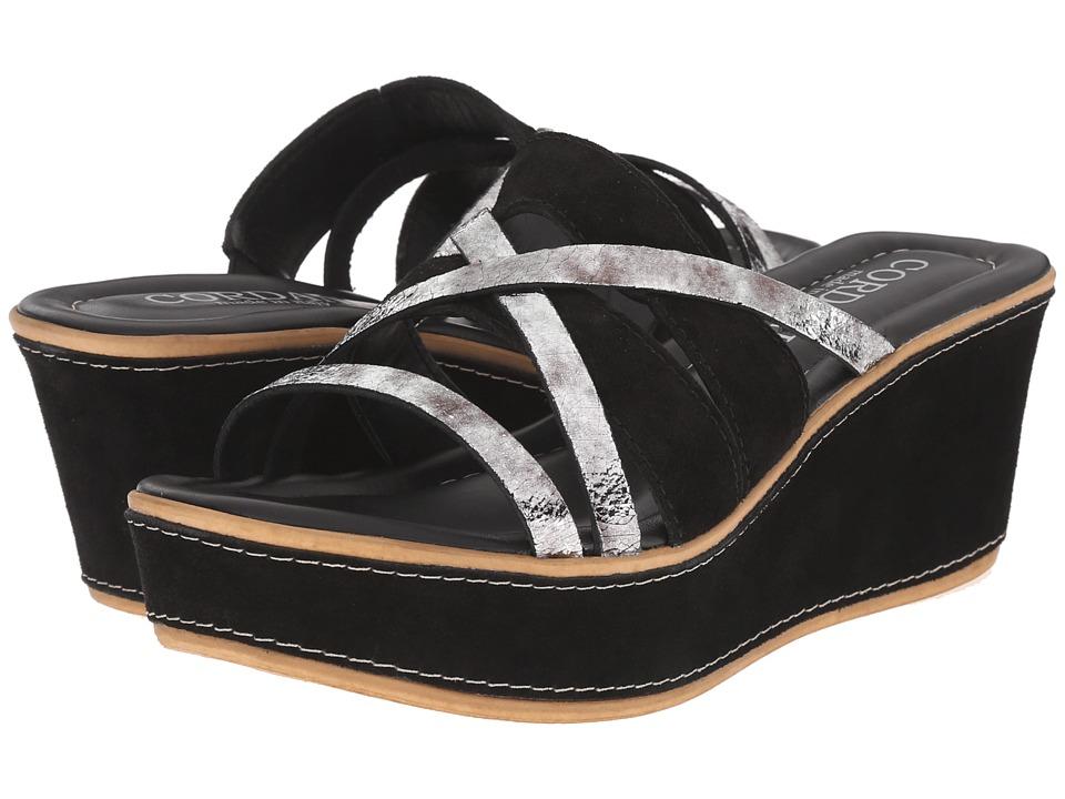 Cordani Kalani Black/Pewter Womens Wedge Shoes