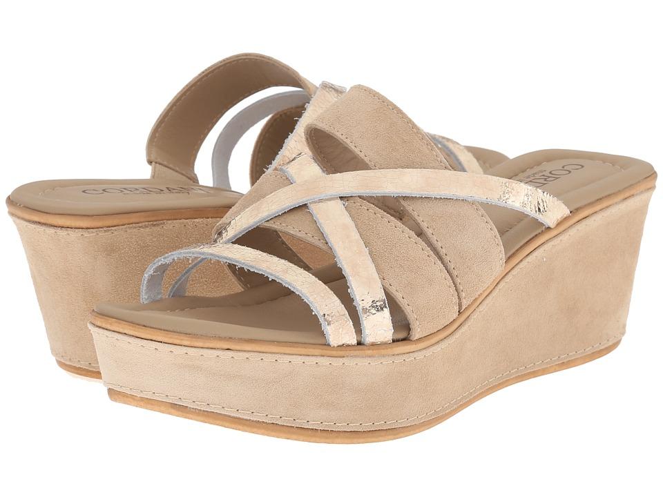 Cordani Kalani Crema/Platinum Womens Wedge Shoes