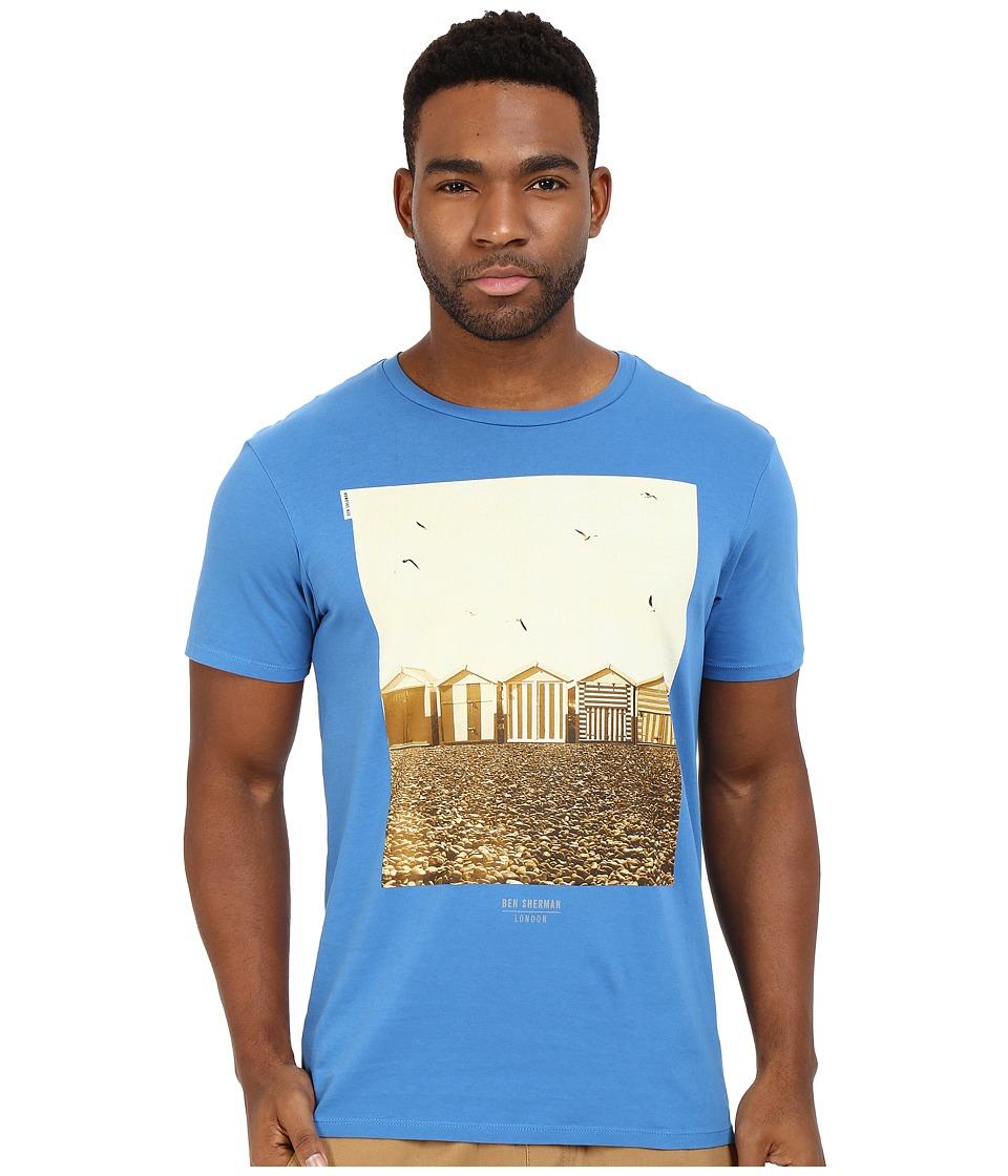Ben Sherman - Short Sleeve Beach Huts Tee MB12323 (Ocean Blue) Men