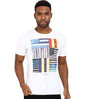 Ben Sherman - Short Sleeve Beach Huts Stripe Tee MB12324