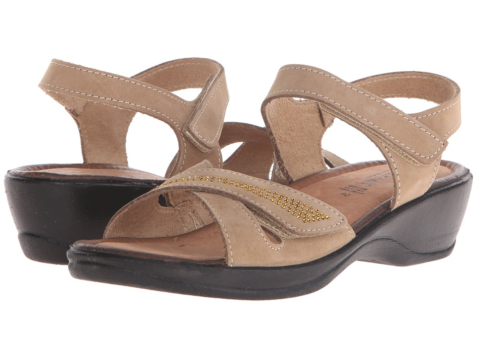 Flexus Caric Taupe Womens Wedge Shoes
