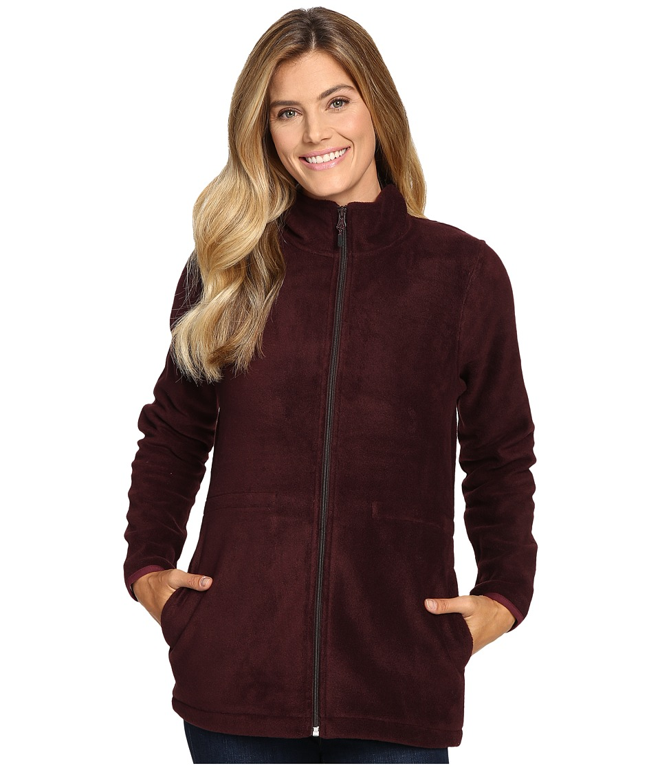 Woolrich Andes Fleece Long Jacket (Burgundy) Women