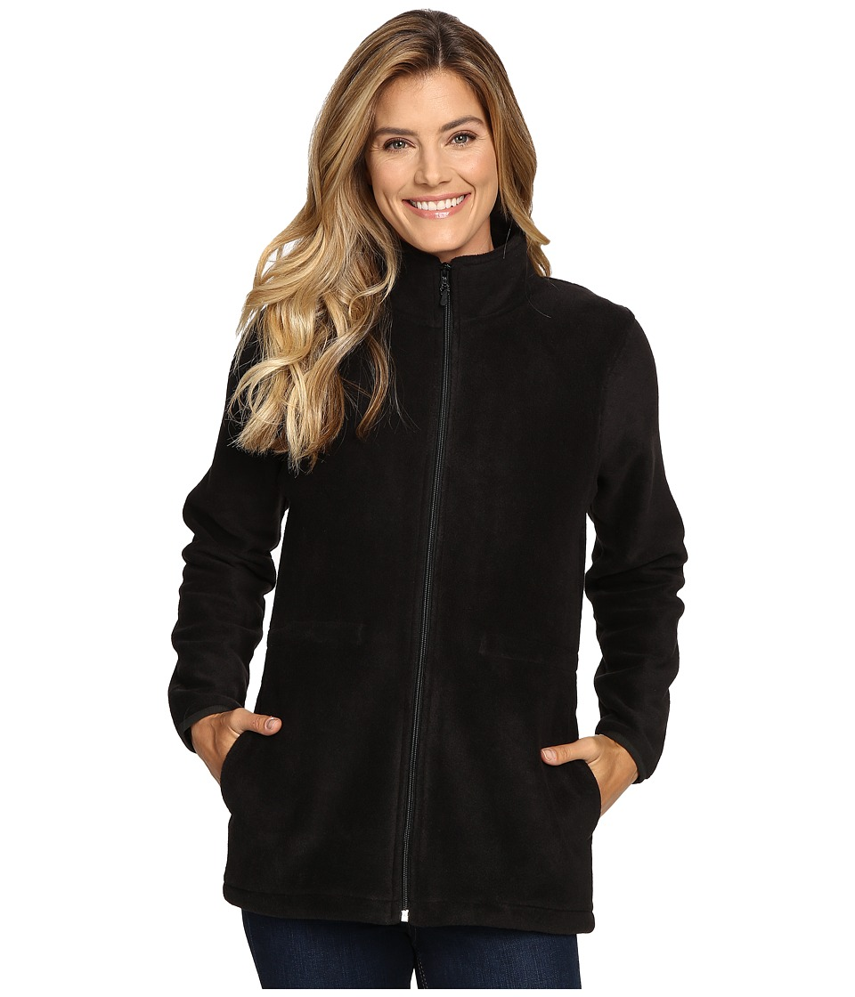 Woolrich Andes Fleece Long Jacket (Black) Women