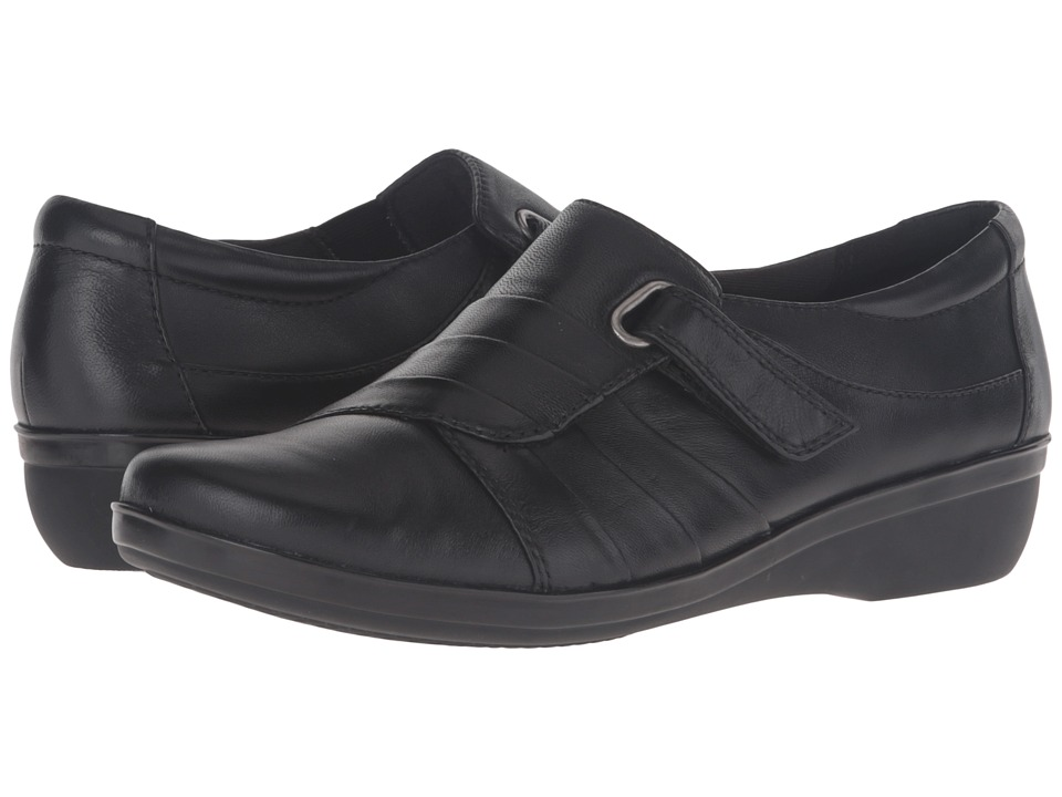 Clarks Everlay Luna (Black Leather) Women's Shoes