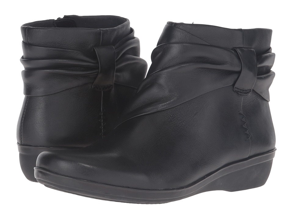 Clarks - Everlay Mandy (Black Leather) Womens  Shoes