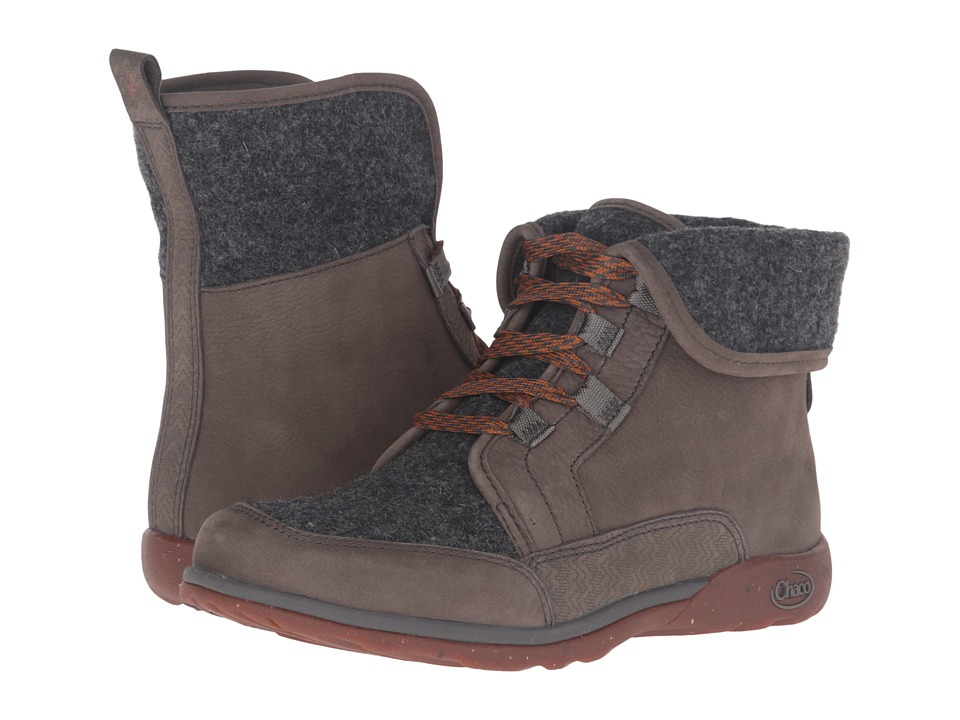 Chaco Barbary (Nickel Gray) Women's Lace-up Boots