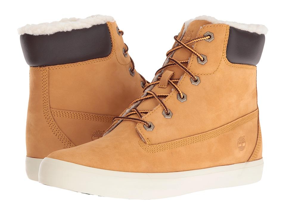 Timberland Flannery 6 Warm Boot (Wheat Nubuck) Girls Shoes