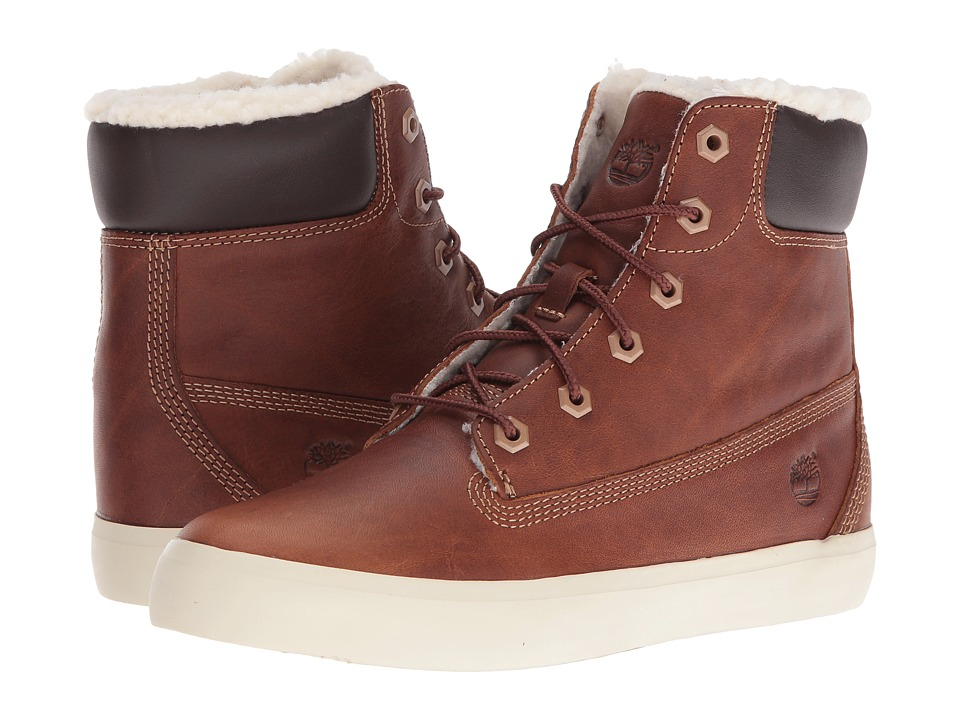 Timberland Flannery 6 Warm Boot (Medium Brown Full Grain) Girls Shoes