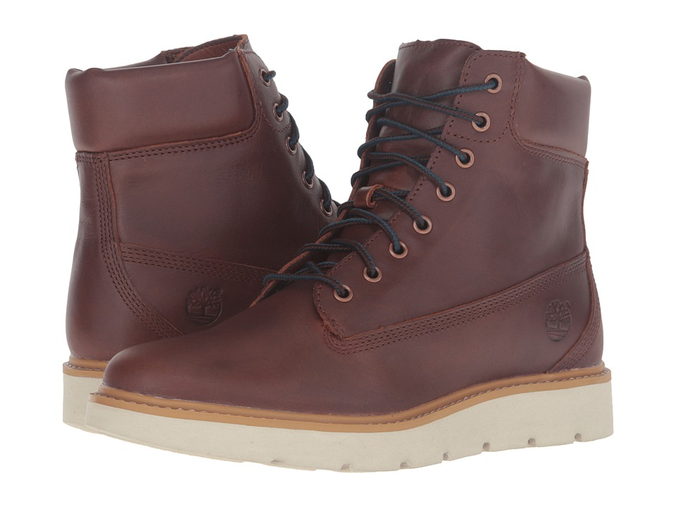 Timberland Kenniston 6 Lace-Up Boot (Medium Brown Full Grain) Girls Shoes