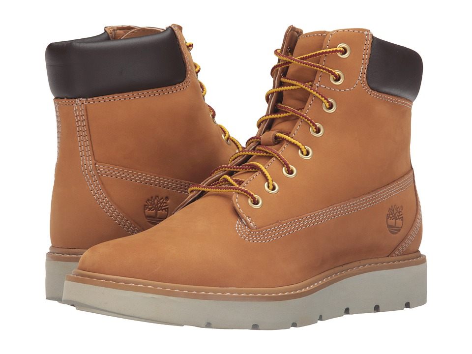 Timberland Kenniston 6 Lace-Up Boot (Wheat Nubuck) Girls Shoes