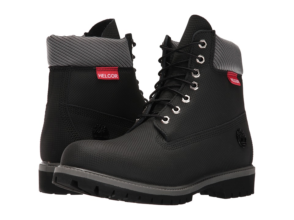 Timberland 6 Premium - Helcor(r) Leather (Black Relief He...