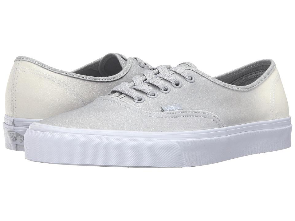 Vans Authentic ((2 Tone Glitter) White/High-Rise) Skate Shoes