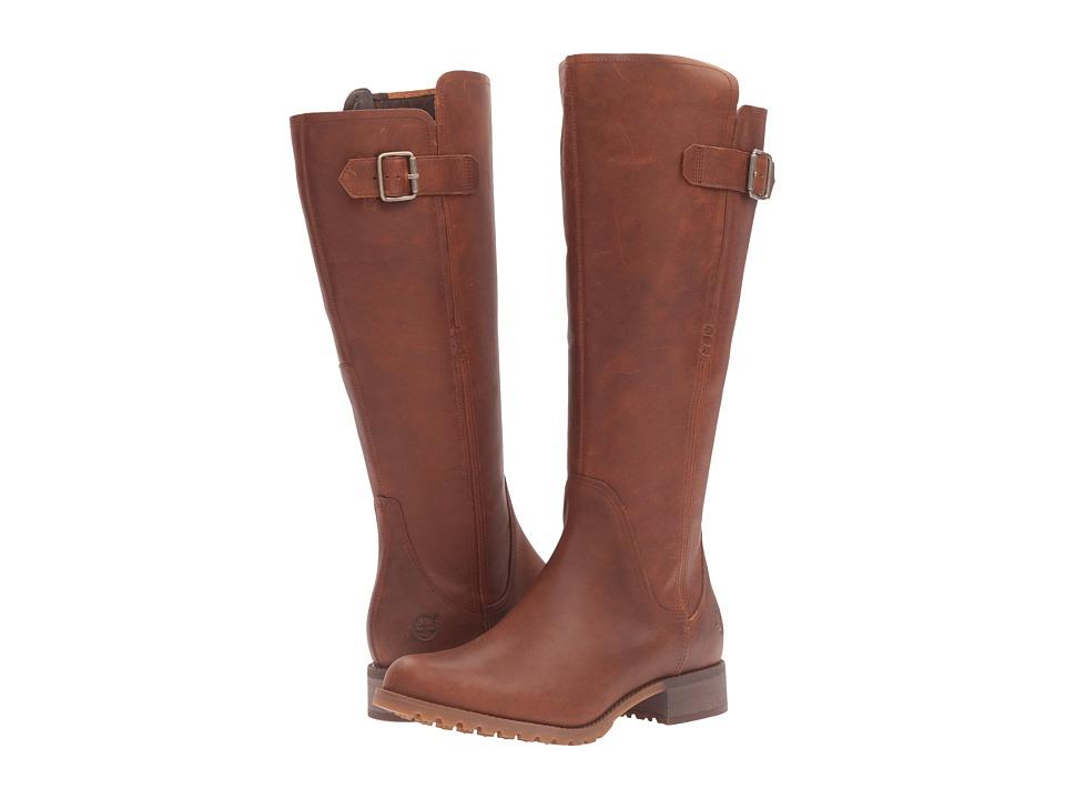 Timberland Banfield Tall All Fit Waterproof Boot (Dark Brown Full Grain) Women