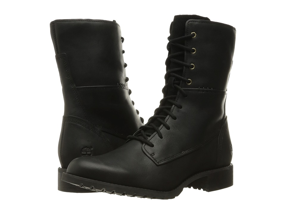 Timberland Banfield Mid Lace Boot (Black Full Grain) Women