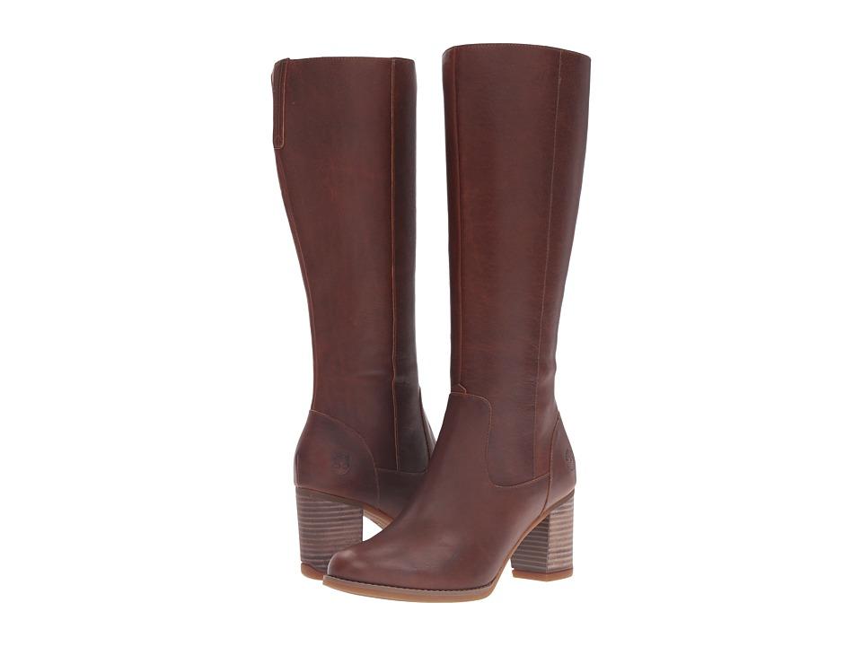 Timberland - Atlantic Heights Tall Waterproof Boot (Medium Brown Full Grain) Women