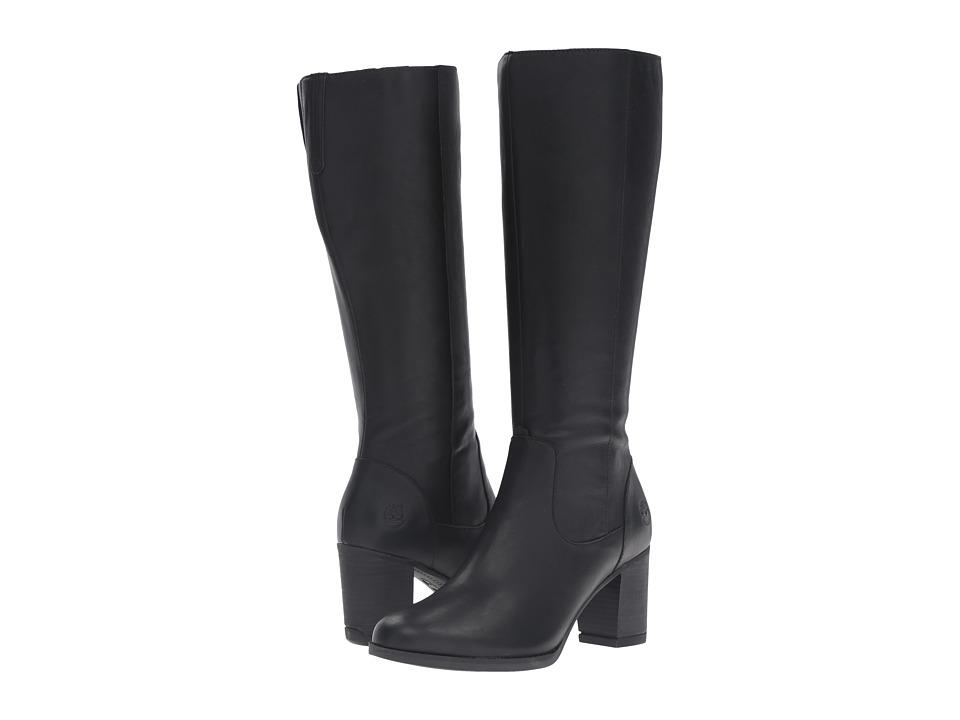 Timberland - Atlantic Heights Tall Waterproof Boot (Black Full Grain) Women