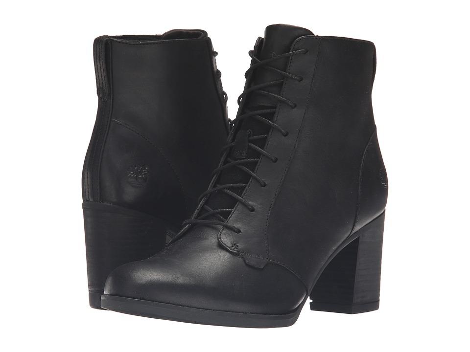 Timberland - Atlantic Heights Lace Chukka Boot (Black Full Grain) Women