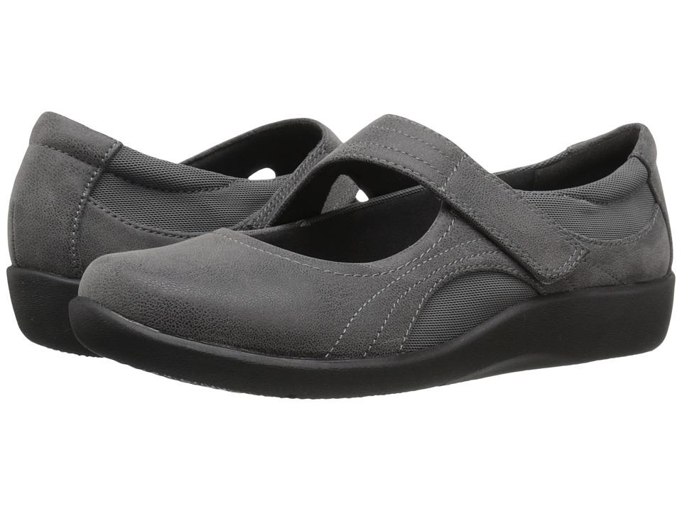 Clarks Sillian Bella (Grey Synthetic Nubuck) Women's Shoes