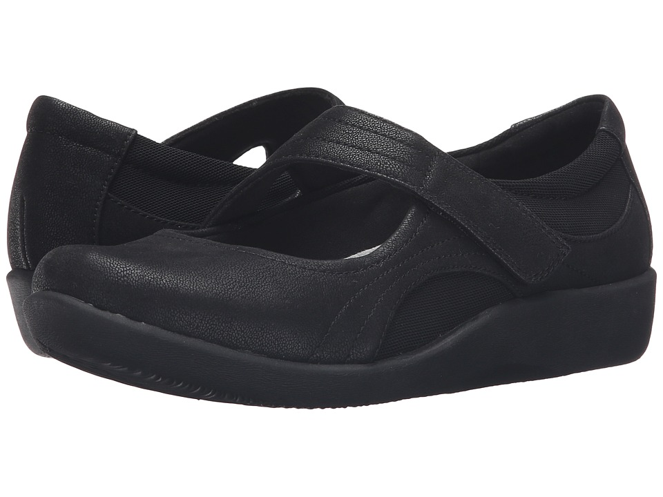 Clarks Sillian Bella (Black Synthetic Nubuck) Women's Shoes