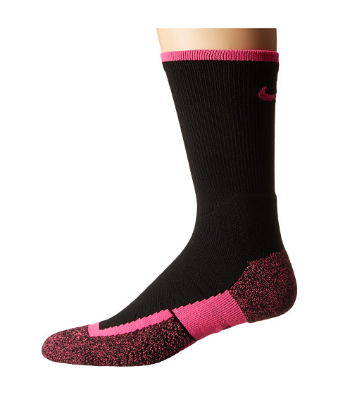 Nike Elite Tennis Crew - Black/Hyper Pink/Hyper Pink