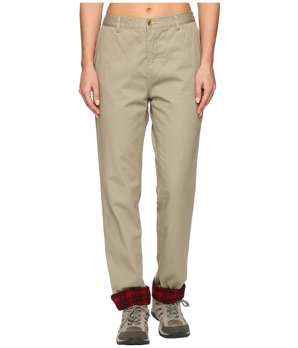 Woolrich Alderglen Flannel Lined Chino Pants (Khaki) Wome...