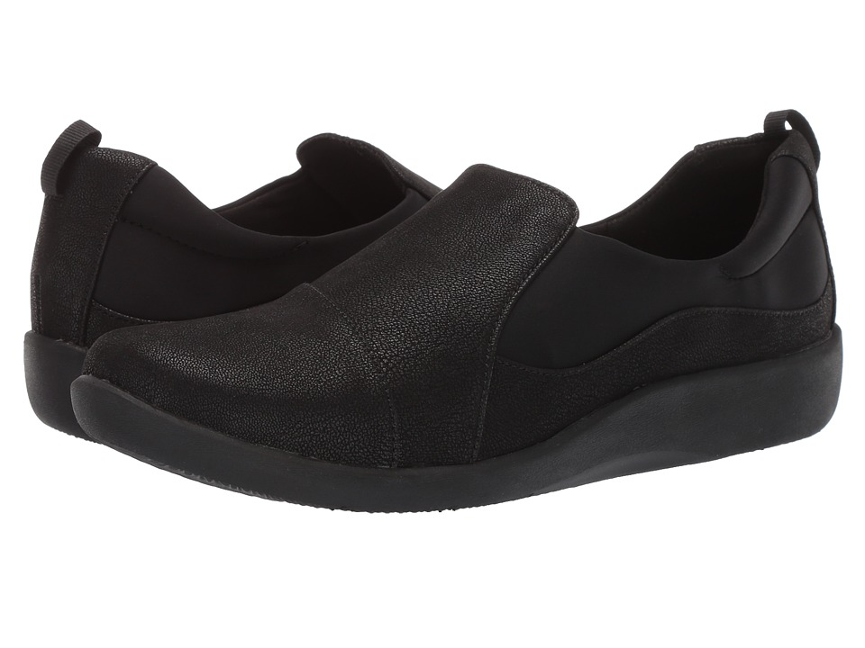 Clarks Sillian Paz (Black Synthetic Nubuck) Women's Shoes
