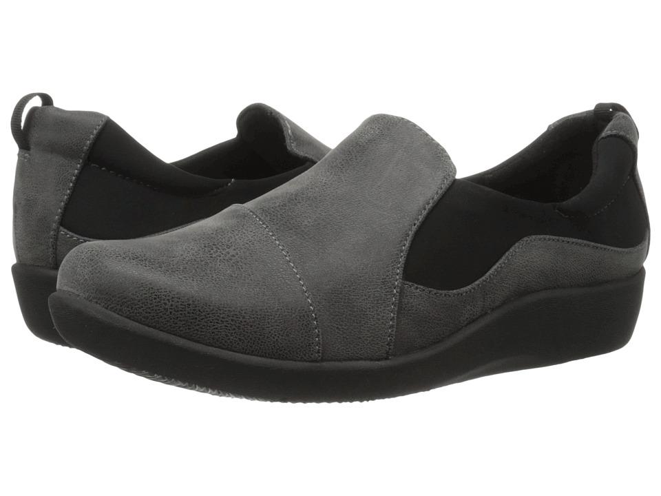 Clarks Sillian Paz (Grey Synthetic Nubuck) Women's Shoes