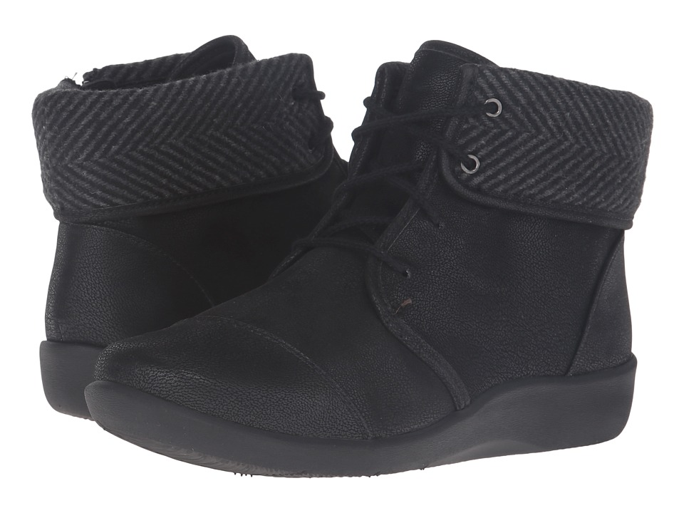 Clarks Sillian Frey (Black Synthetic Nubuck) Women's Shoes