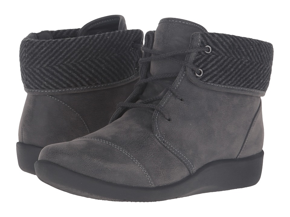 Clarks Sillian Frey (Grey Synthetic Nubuck) Women's Shoes