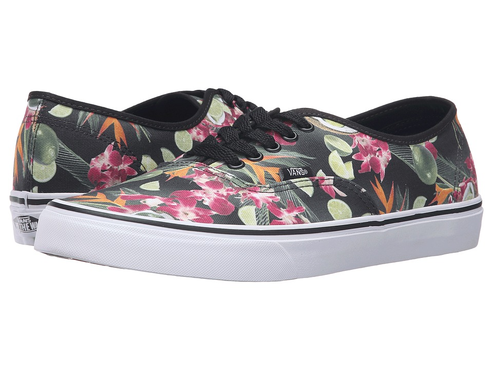 Vans Authentic ((Lime in the Coconut) Black) Skate Shoes