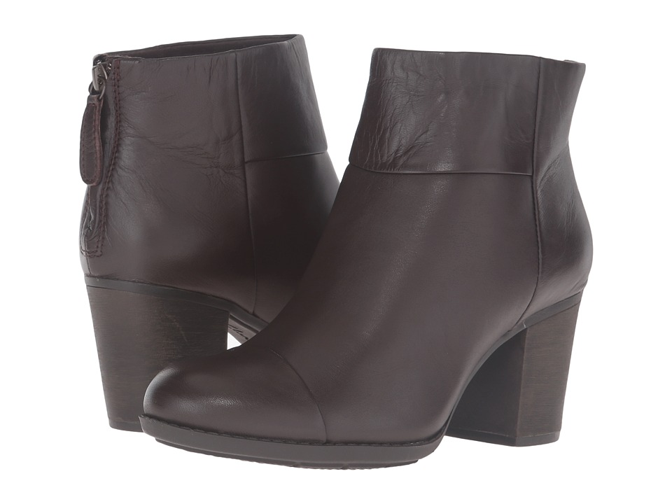 Clarks - Enfield Tess (Brown Smooth Leather) Women