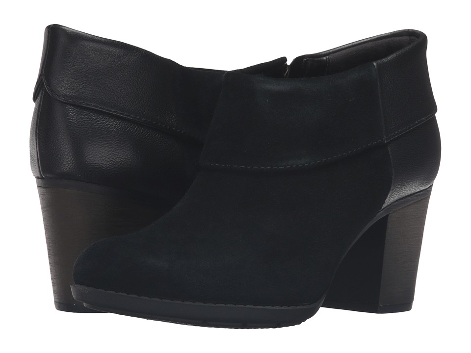 Clarks - Enfield Canal (Black Suede/Leather) Women