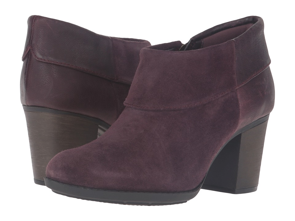 Clarks - Enfield Canal (Aubergine Suede/Leather) Women