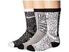 Nike Kids 3-Pack Graphic Cotton Cushion Crew