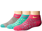 Nike Kids 3-Pack Graphic Lightweight Cotton Low Cut
