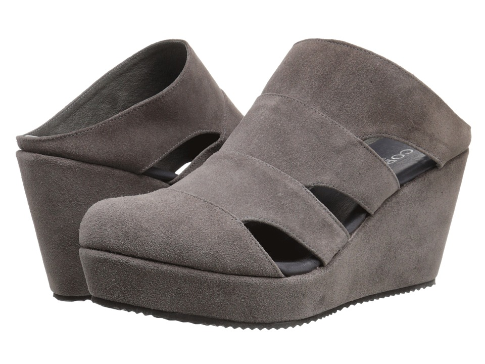Cordani Flint Grey Suede Womens Wedge Shoes