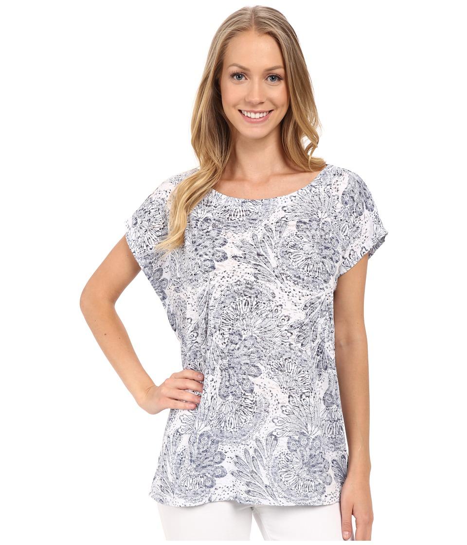 Allen Allen Square Top White Womens Clothing