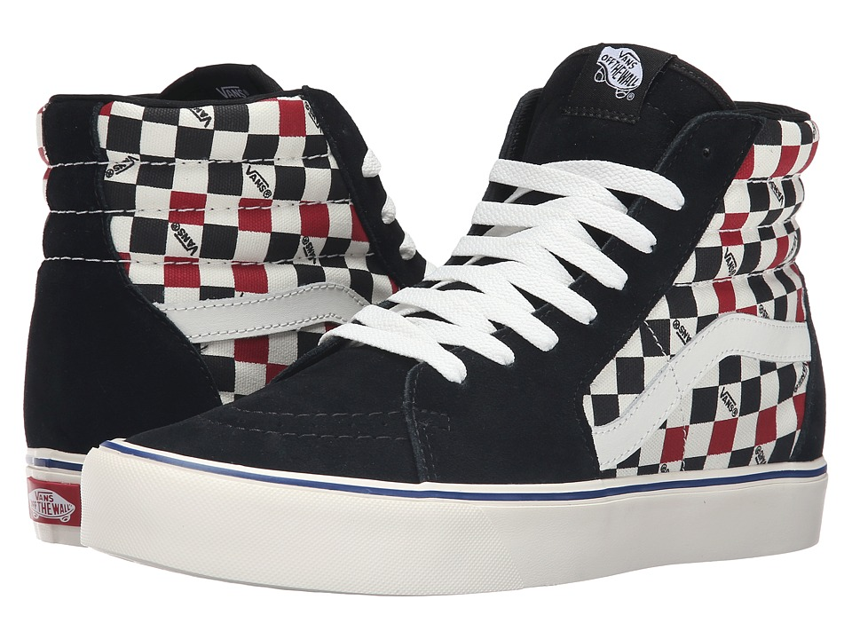 Vans - Sk8-Hi Lite ((Seeing Checkers) Black/Marshmallow) Men