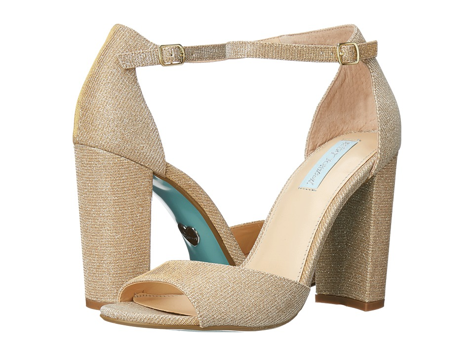 Blue by Betsey Johnson Carly Gold High Heels