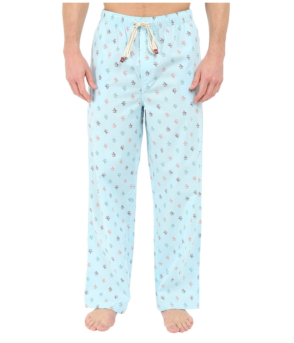 Original Penguin Penguin Woven Pant Crystal Blue Mens Pajama