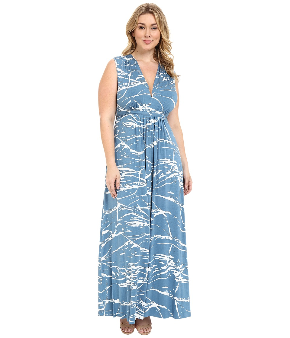 Rachel Pally Plus Plus Size Long Sleeveless Caftan Dress Moonflower Reverie Womens Dress
