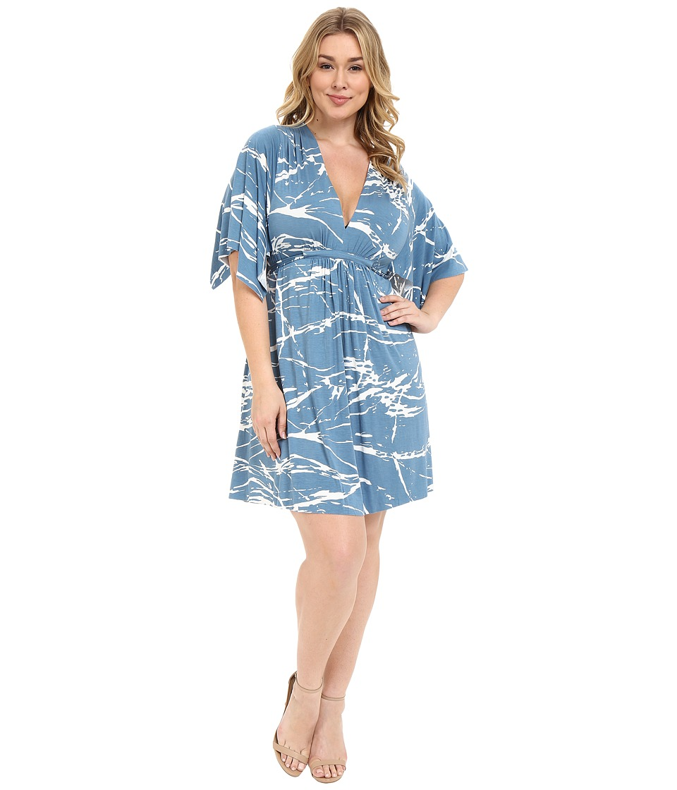 Rachel Pally Plus Plus Size Mini Caftan Dress Moonflower Reverie Womens Dress