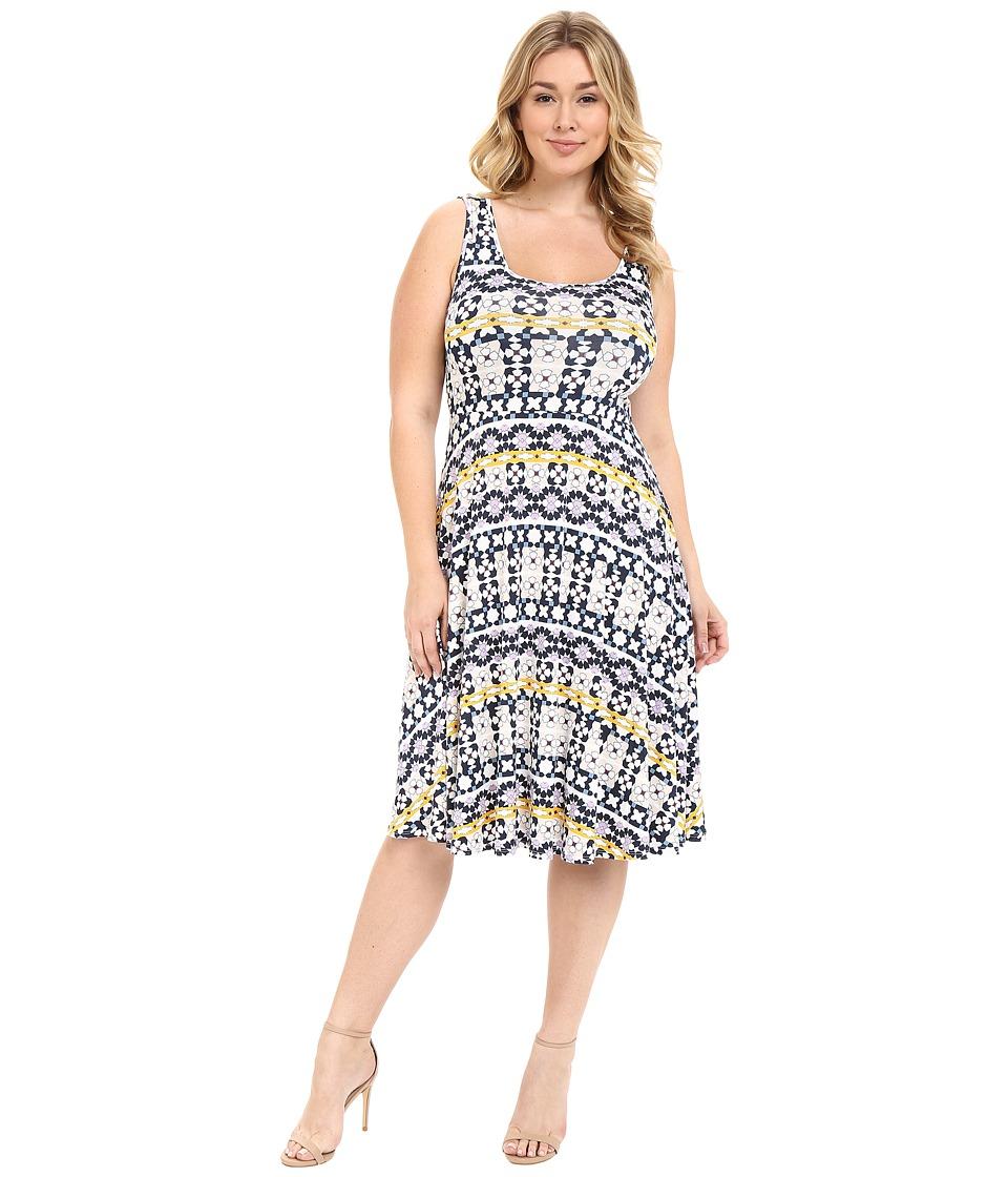 Rachel Pally Plus Plus Size Stasia Dress Morrocco Print Womens Dress