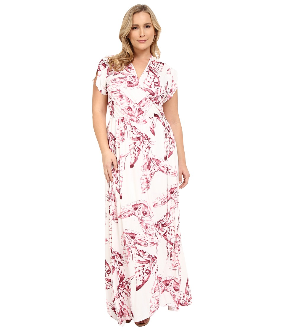Rachel Pally Plus Plus Size Perpetua Dress Vino Mariposa Womens Dress