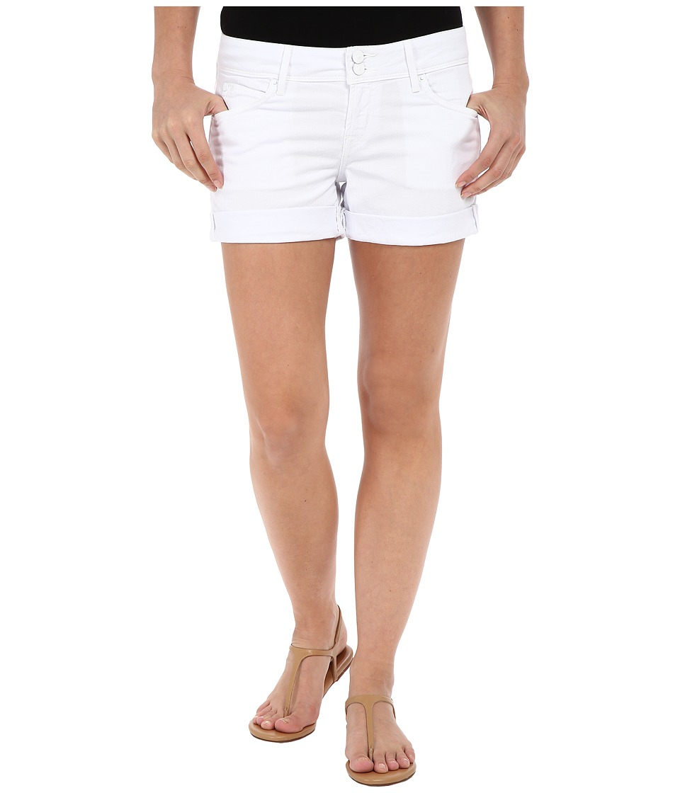 Hudson Croxley Mid Thigh Shorts in White White Womens Shorts